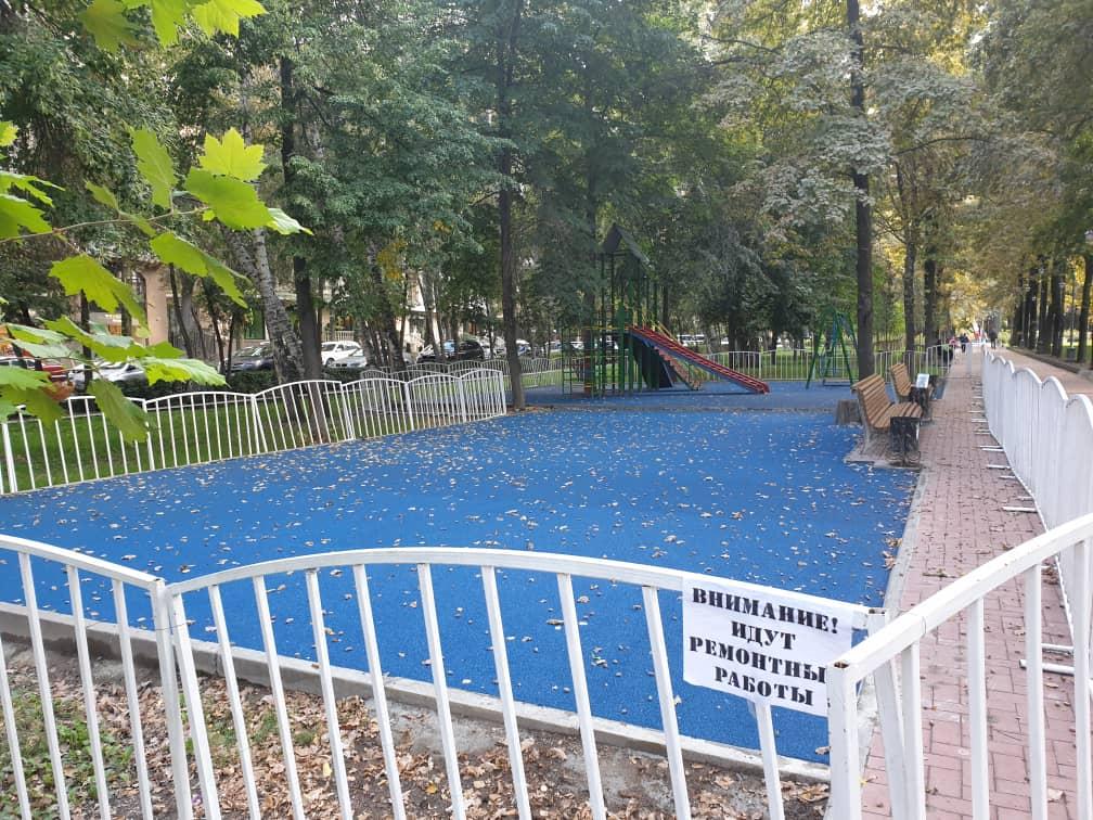 Детская площадка на бульваре Эркиндик(Московская/Боконбаево) - 2